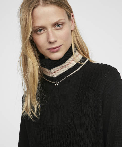 Polo neck jumper