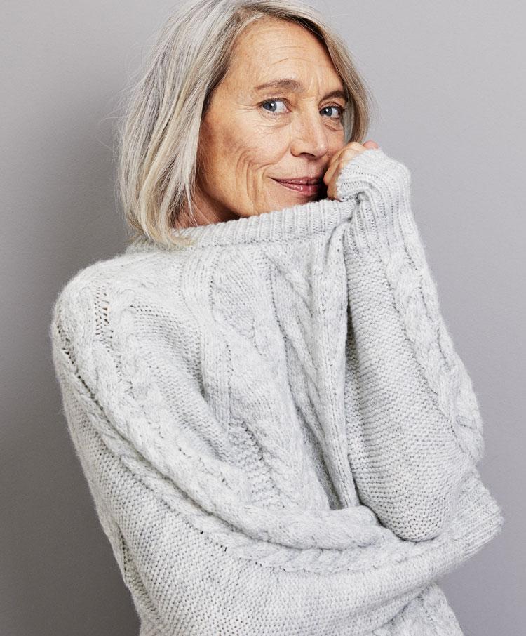 65e063ab3 Round neck Aran knit sweater - Knitwear - Pyjamas and homewear ...