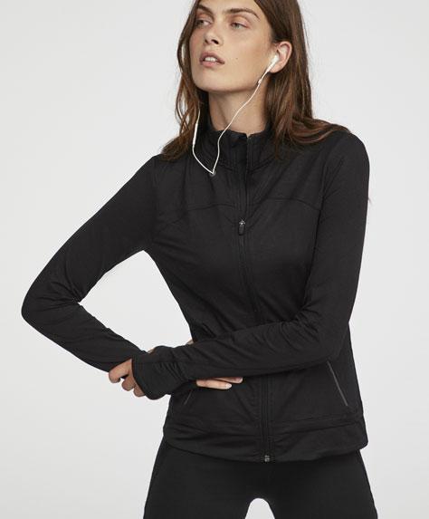 Спортно черно яке