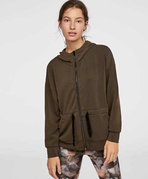 Contrasting plush jacket
