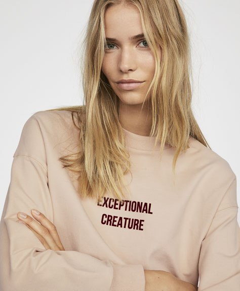 Positioniertes Sweatshirt