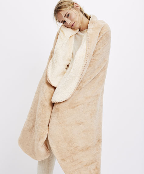 Faux-shearling blanket