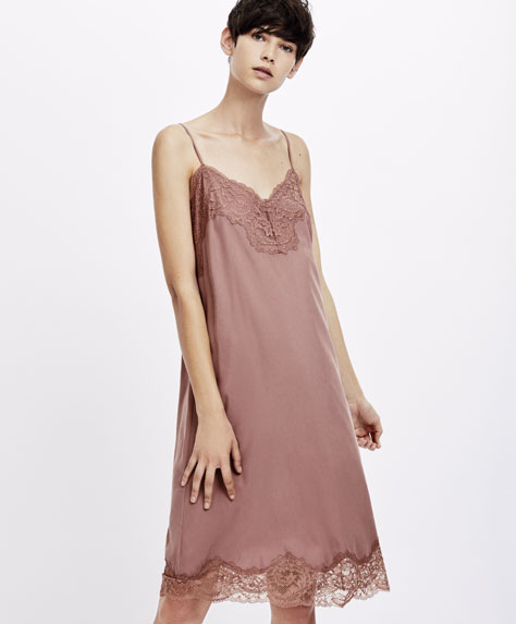 Strappy satin nightdress