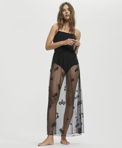 Essential Lace long nightdress