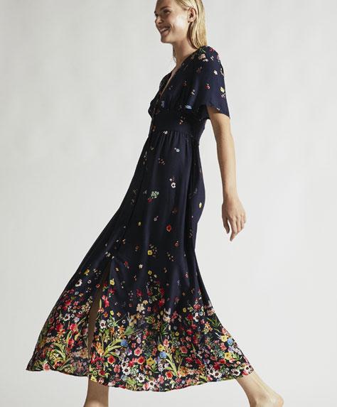Vestido largo flor