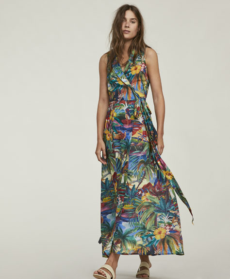 Long tropical dress