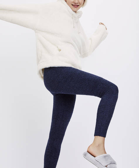 Legging long bleu marine