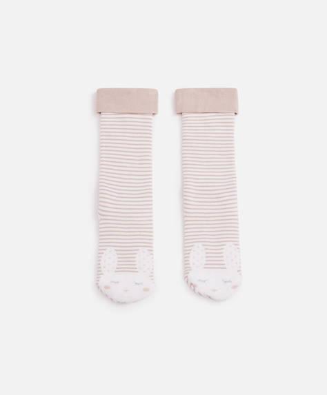 Terry cloth bunny socks