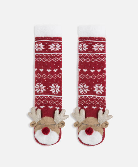 Reindeer polar socks