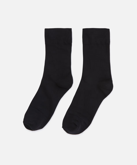 Socks with wide cuffs