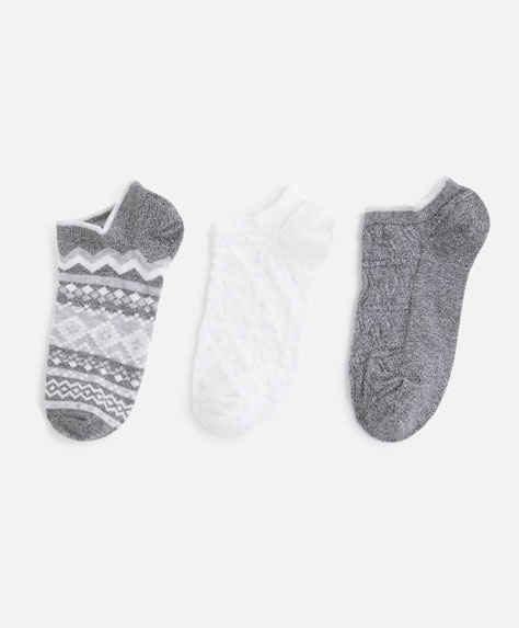 3-pack of jacquard socks