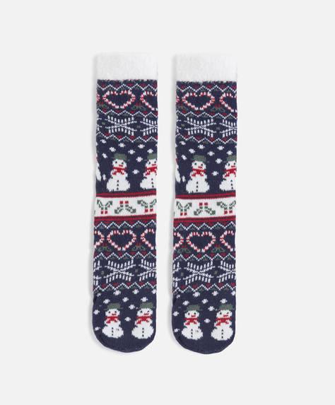 Χριστουγεννιάτικη κάλτσα με χιονάνθρωπο
