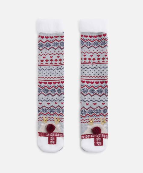 Terry reindeer socks