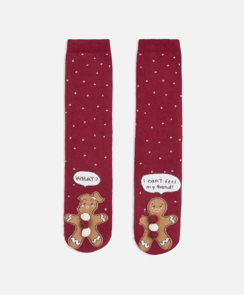 Gingerbread men polar socks