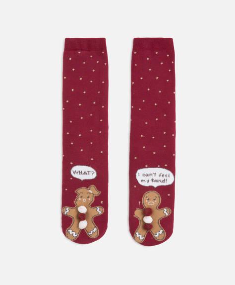 Хлопковые носки с принтом «Имбирное печенье»