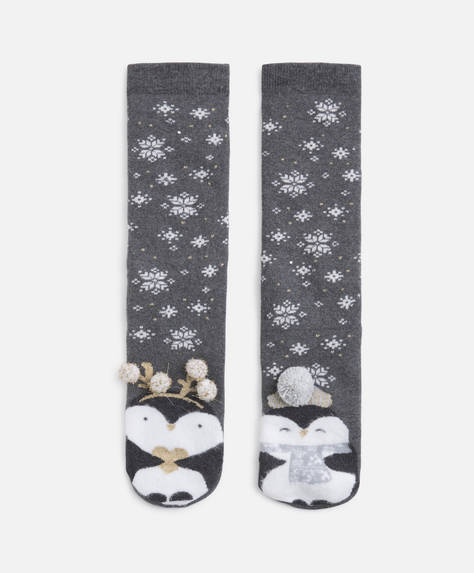 Terry penguin socks