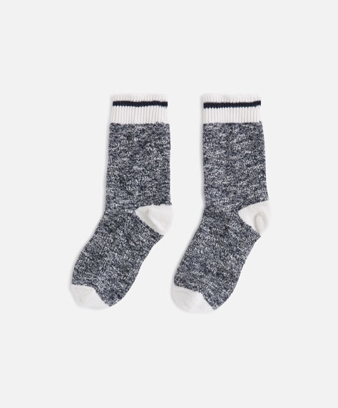 Rustic socks with stripe