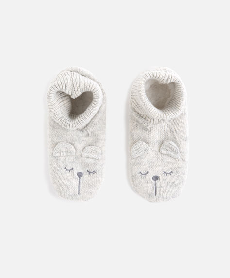 Bear slipper boots