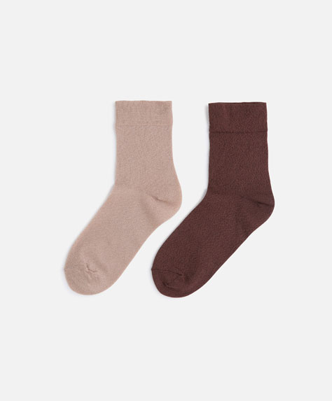 2 pairs of fashion socks
