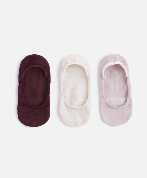 3 parells de mitjons footies color