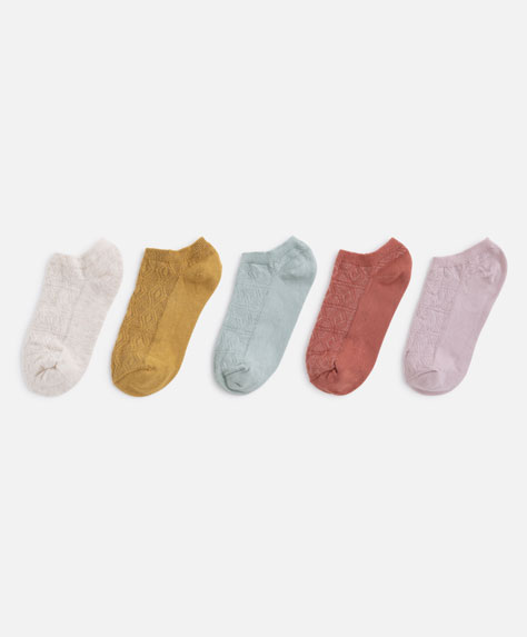 5 pairs of coloured ankle socks
