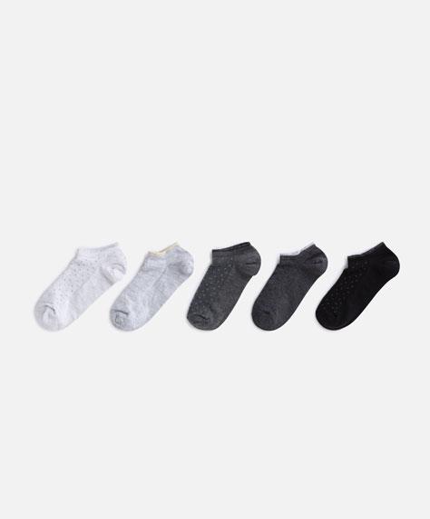 5 paia di calzini neutri