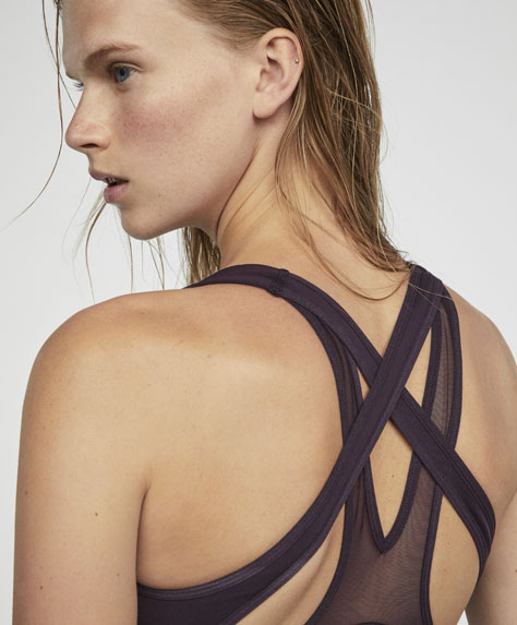 Iridescent print bra