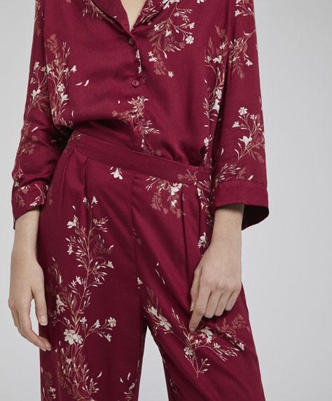 Pantalón flor oriental