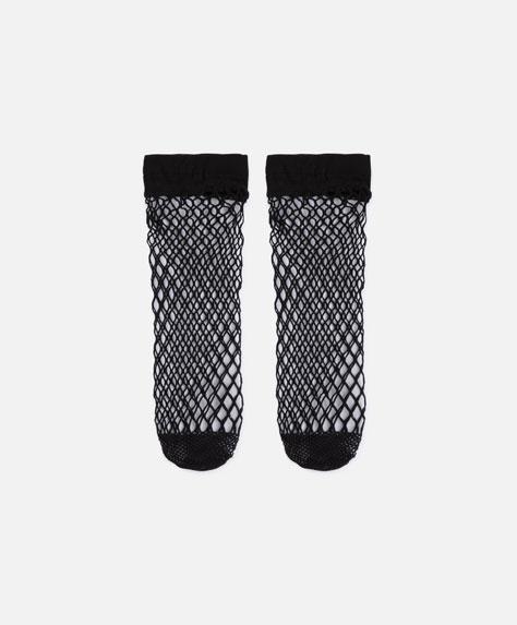 Μαύρη διχτυωτή κάλτσα