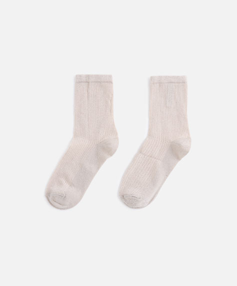 Vertical stripe socks
