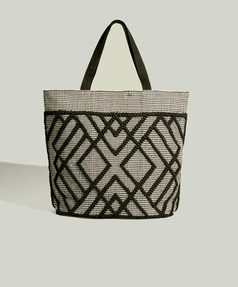 Комбинированная сумка-шоппер