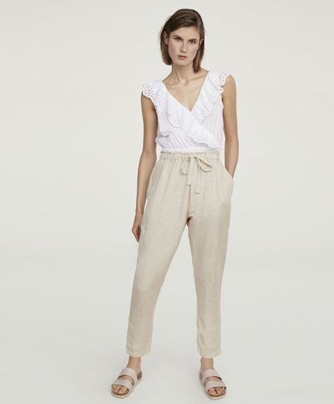 Basic linen trousers