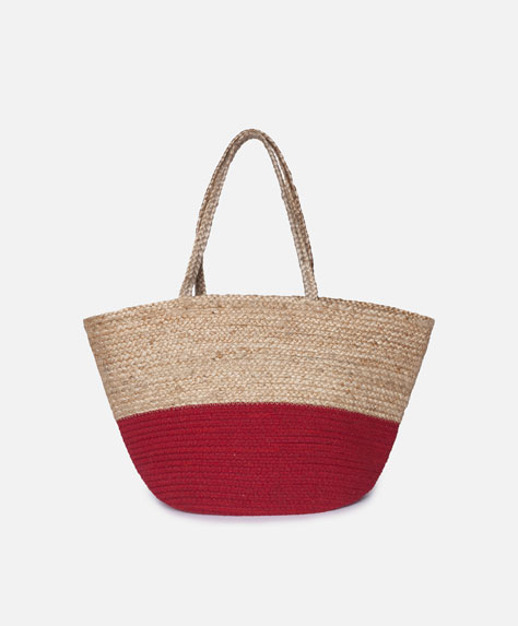 Red colour block basket