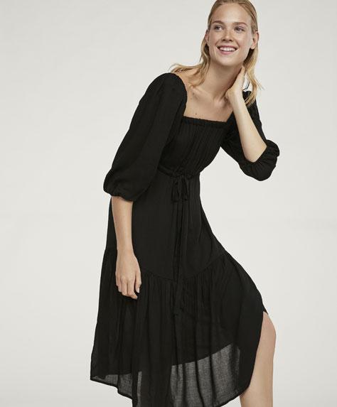 Платье миди из текстурной ткани