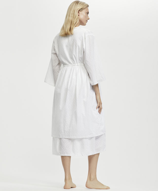 Embroidered long nightdress - Nightdresses and dressing gowns ...