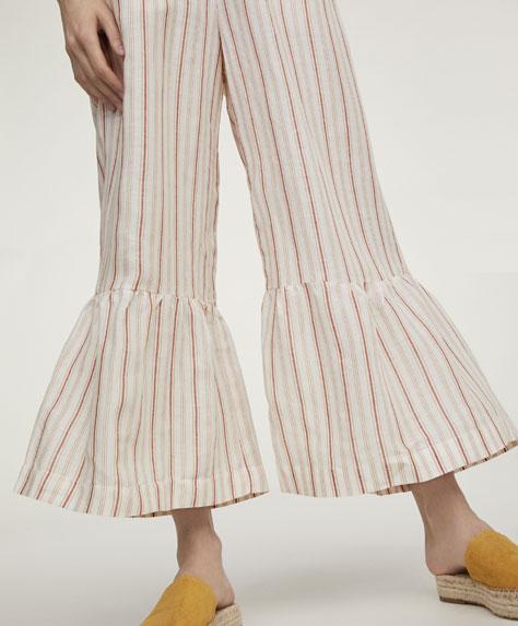 Pantalón rayas lino
