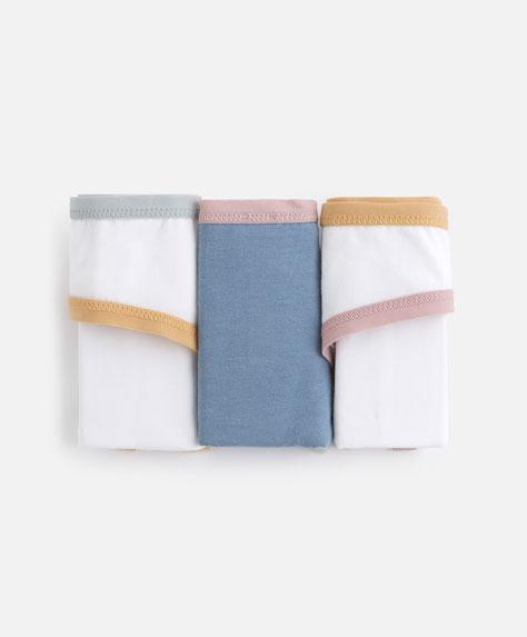 3 colourful classic briefs