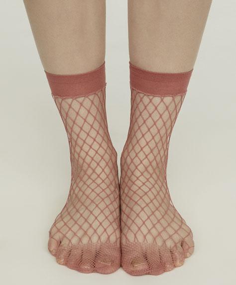 Colourful fishnet fashion socks
