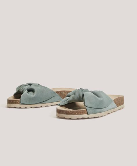 Fersenfreier Schuh aus Rauleder