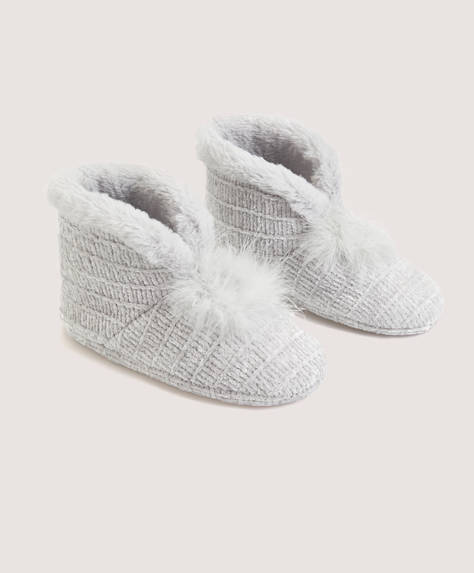 Marabou pom pom slippers