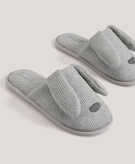 Jersey bunny slippers