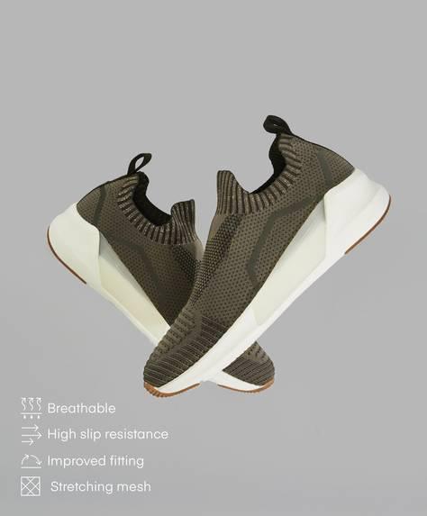 Αθλητικά παπούτσια τύπου κάλτσα από ύφασμα