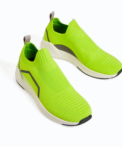 Neon sock trainers