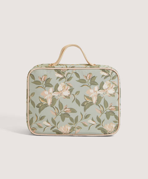 Floral wash case with removable wash bags