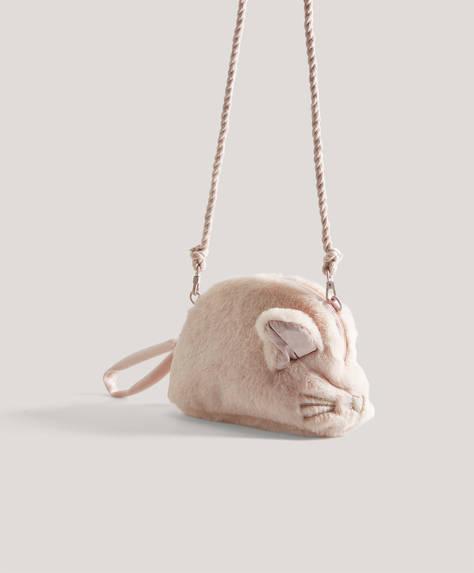 Fare detaylı makyaj çantası