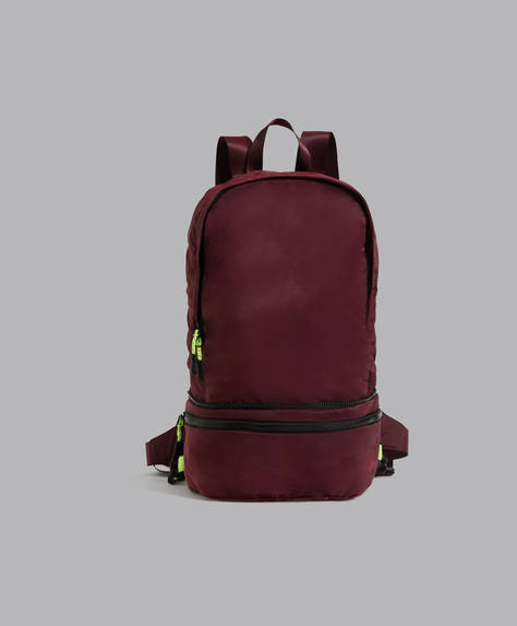 Foldaway backpack-belt bag