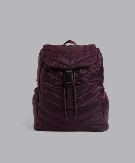 Padded fabric rucksack.