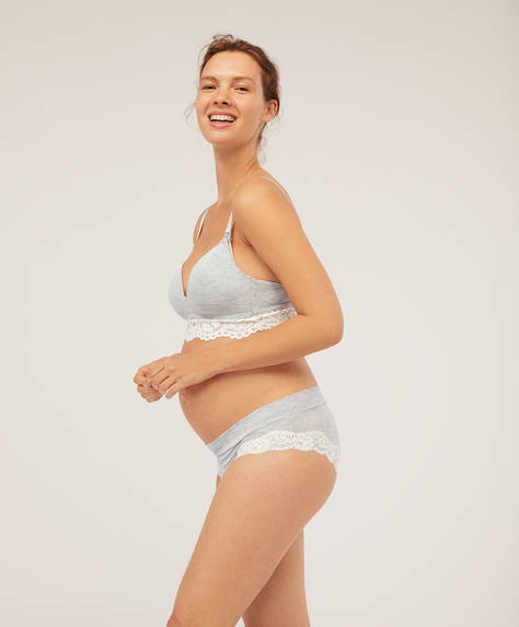 Lace detail maternity briefs