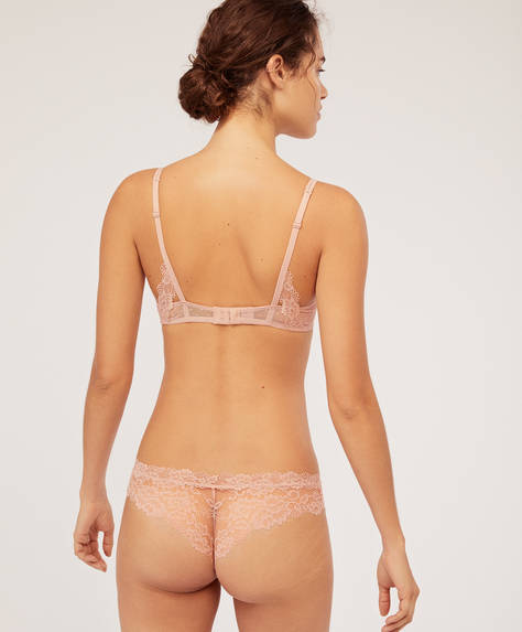 Essential Lace hipster thong