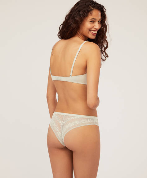 Valenciennes lace Brazilian briefs